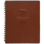 AT-A-GLANCE PLANNER WEEKLY/MONTHLY 2019 AT-A-GLANCE SIGNATURE A4 LEATHER LIKE BROWN ( EACH )