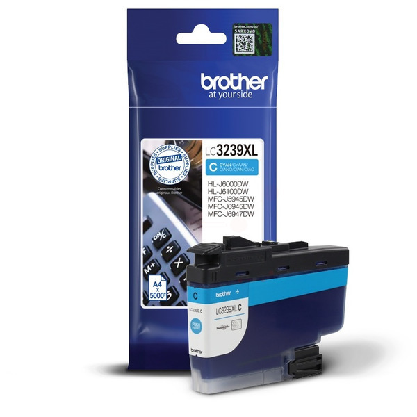 Brother LC-3239XLC Ink cartridge cyan, 5K pages