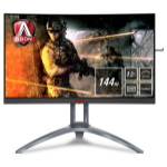 "AOC AG273QCX computer monitor 68.6 cm (27"") Wide Quad HD LED Curved Black,Red,Silver"