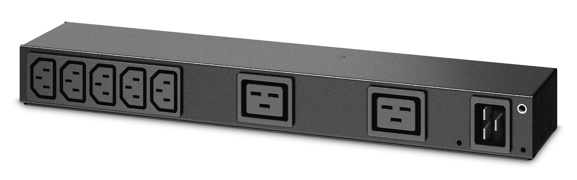 APC AP6120A power distribution unit (PDU) 7 AC outlet(s) 0U/1U Black