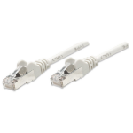 Intellinet Network Patch Cable, Cat5e, 0.5m, Grey, CCA, F/UTP, PVC, RJ45, Gold Plated Contacts, Snagless, Booted, Polybag