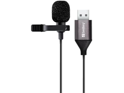 Sandberg Streamer USB Clip Microphone