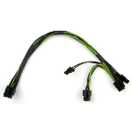 Supermicro CBL-PWEX-0582 Internal 0.3m PCI-E (8-pin) 2 x PCI-E(6+2 pin) Black,Green,Yellow power cable