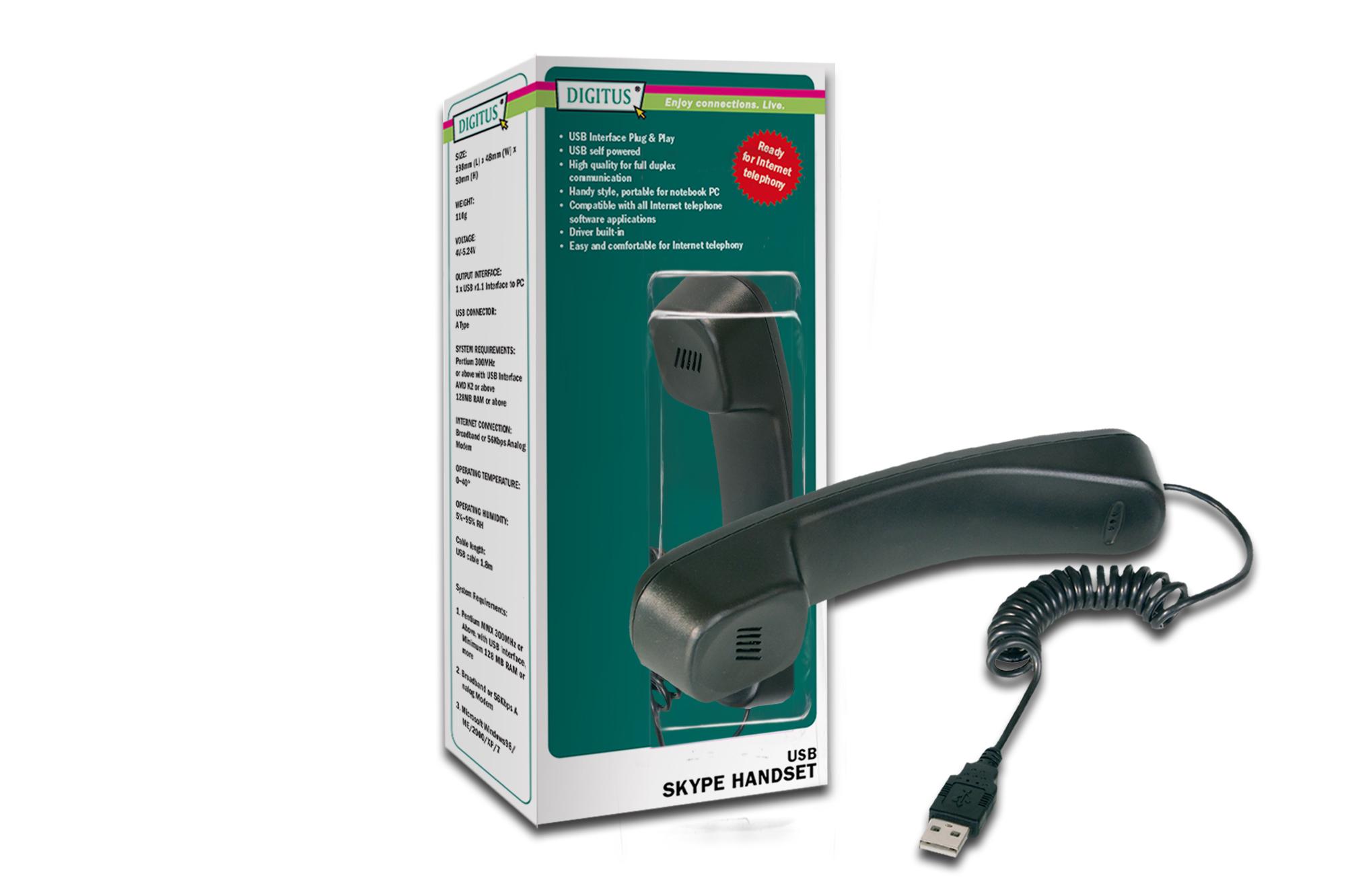 Digitus Skype USB Negro