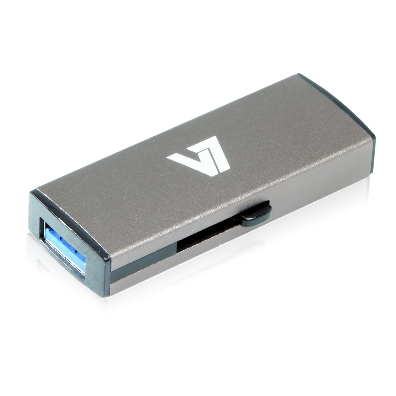 V7 Slide-In USB 3.0 Flash Drive 32GB grey USB flash drive