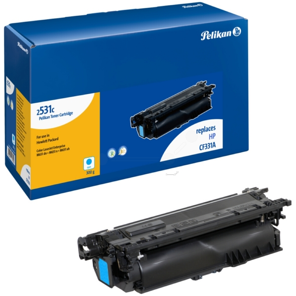 Toner (2531C) compatible cyan, 15K pages, 300gr, Pack qty 1 (replaces HP 654A)