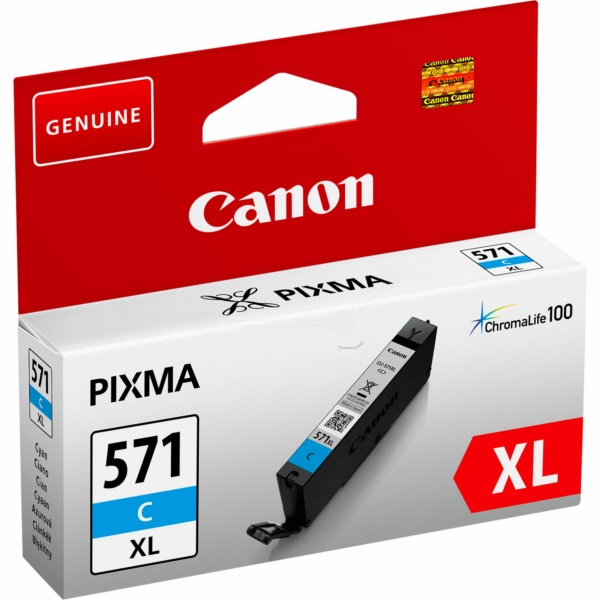 Canon 0332C001 (CLI-571 CXL) Ink cartridge cyan, 680 pages, 11ml