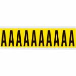 Brady 3440-A self-adhesive label Rectangle Removable Black, Yellow 10 pc(s)