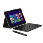 Dell - Keyboard and folio case - Bluetooth - English - black keyboard, black case - for Venue 8 Pro (5830