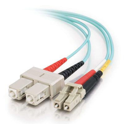 C2G 85515 cable de fibra optica 3 m OFNR SC Turquesa
