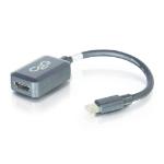 C2G 0.2m Mini DisplayPort M / HDMI F Black