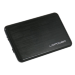 "LC-Power LC-PRO-25BUB storage drive enclosure 2.5"" HDD enclosure Black"