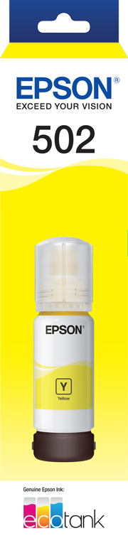 EPSON T502 Yellow Ink Bottle - ET-2700, ET-2750, ET-3700, ET-4750