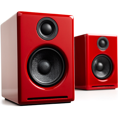 Audioengine A2+ 2-way 30 W Red Wired & Wireless