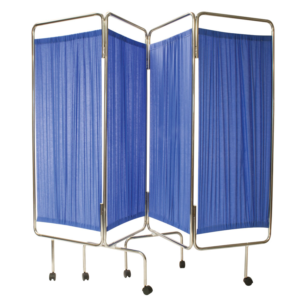Reliance Medical Reliance Relequip Medical Screen 4 Way Flding inc Curtain DD