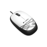 Logitech M105 mice USB Optical 1000 DPI Ambidextrous Black, White