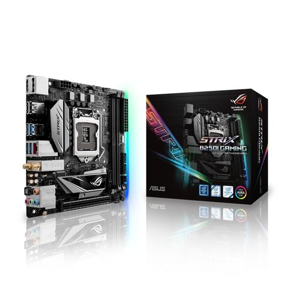 ASUS ROG STRIX B250I GAMING Intel B250 LGA 1151 (Socket H4) Mini-ATX motherboard