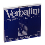 "Verbatim MO Disk 2,3Gb 5.25"" 5.25"" magneto optical disk"