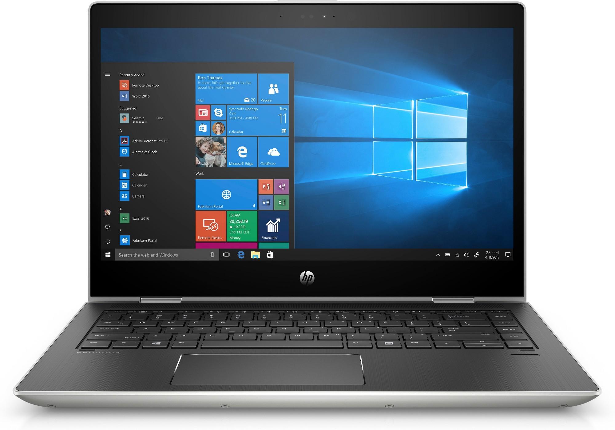 "HP ProBook x360 440 G1 Zilver Notebook 35,6 cm (14"") 1920 x 1080 Pixels Touchscreen Intel® 8ste generatie Core™ i3 4 GB DDR4-SDRAM 512 GB SSD Windows 10 Home"