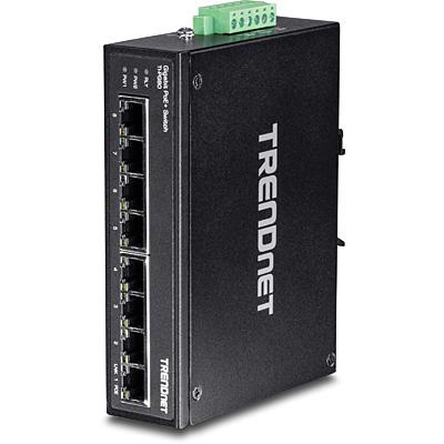 Trendnet TI-PG80 switch No administrado L2 Gigabit Ethernet (10/100/1000) Negro Energía sobre Ethernet (PoE)