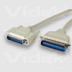 Videk Bi-Directional IEEE 1284 Parallel Cables 10m printer cable