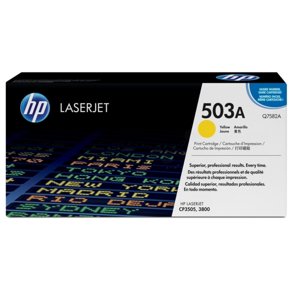 HP Q7582A (503A) Toner yellow, 6K pages @ 5% coverage