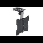 """Proper Under Cabinet Folding TV Bracket for 19  -40   40"""" Black flat panel ceiling mount"""
