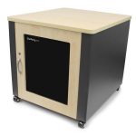 StarTech.com RKQMCAB12V2 rack 598.6 lbs (271.5 kg) Freestanding rack 12U Grey, Wood