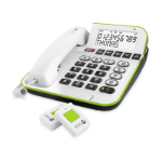 Doro Secure 350 Analog telephone Caller ID White