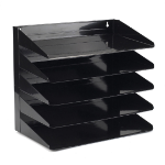 Avery 5-Tier Letter Rack Steel Black 605SBLK