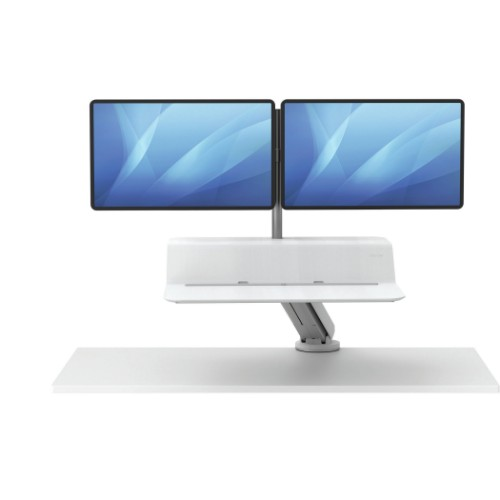 Fellowes Lotus RT Sit-Stand Workstation – Dual White