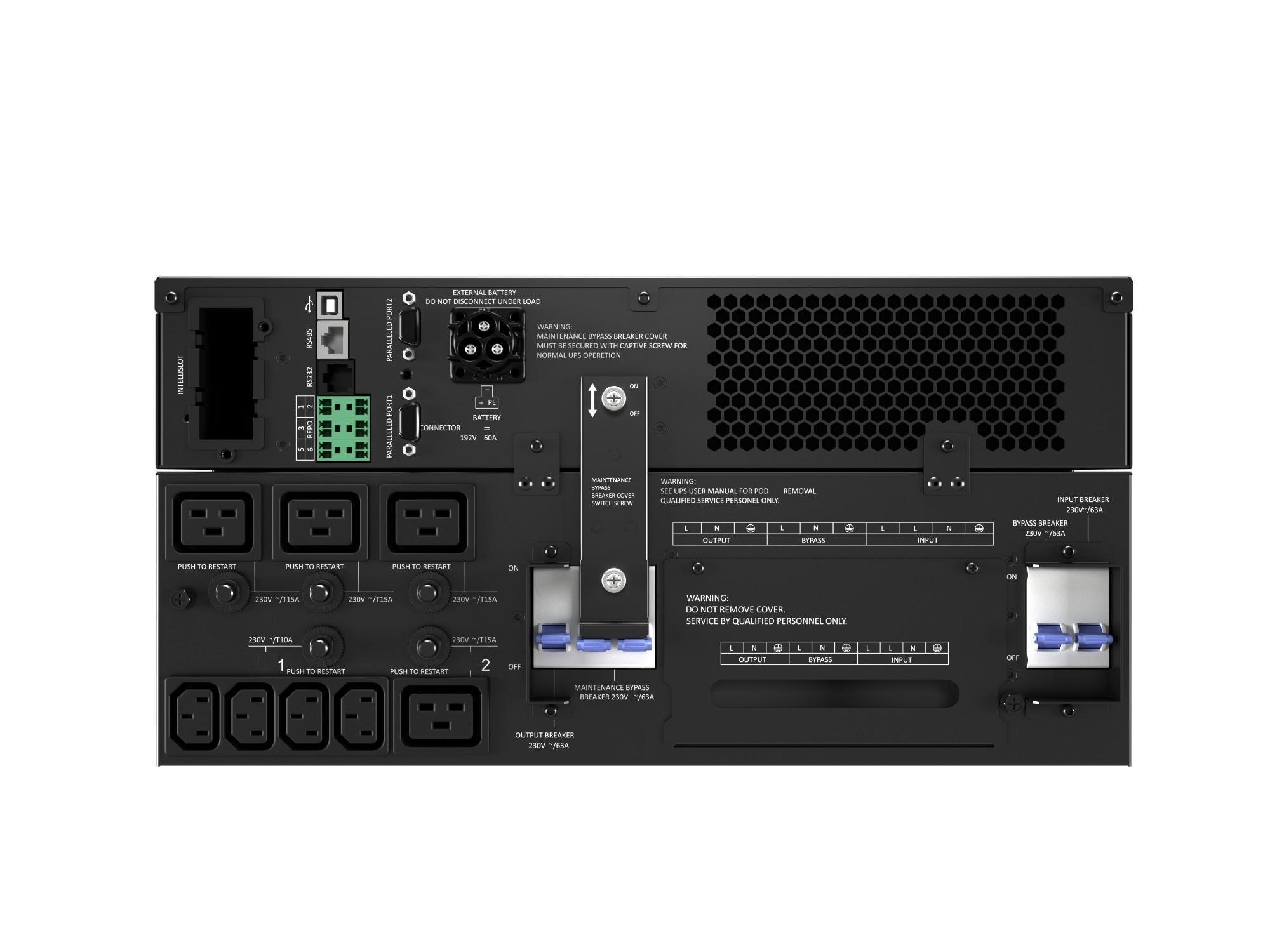 Vertiv Liebert GXT5-8000IRT5UXLE sistema de alimentación ininterrumpida (UPS) Doble conversión (en línea) 8000 VA 8000 W 8 salidas AC