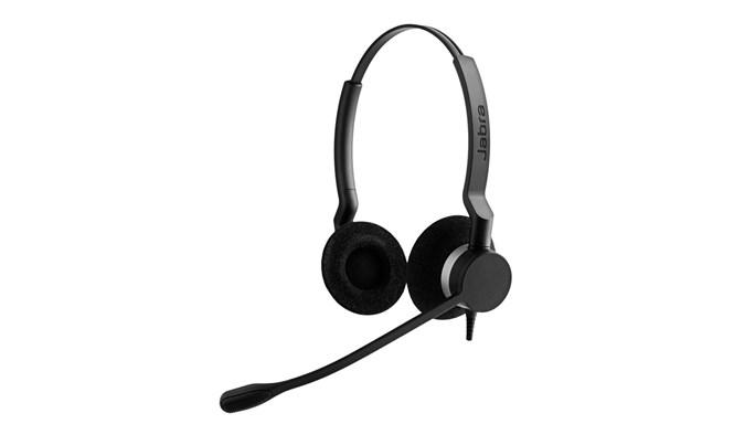 Jabra BIZ 2300 QD Duo hoofdtelefoon Hoofdband Stereofonisch Zwart