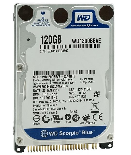 """Western Digital Scorpio 120GB 2.5"""" EIDE/ATA"""
