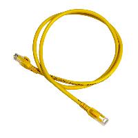 APC DC6PCURJ01YLM netwerkkabel 1 m Cat6 U/UTP (UTP) Geel