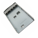 Supermicro MCP-220-93801-0B drive bay panel Black, Brushed steel