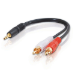 C2G Value Series 3.5mm Stereo Plug/RCA Plug x2 Y-Cable