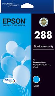 EPSON 288 Std Capacity DURABrite Ultra Cyan ink, XP-240, XP-340, XP-344, XP-440