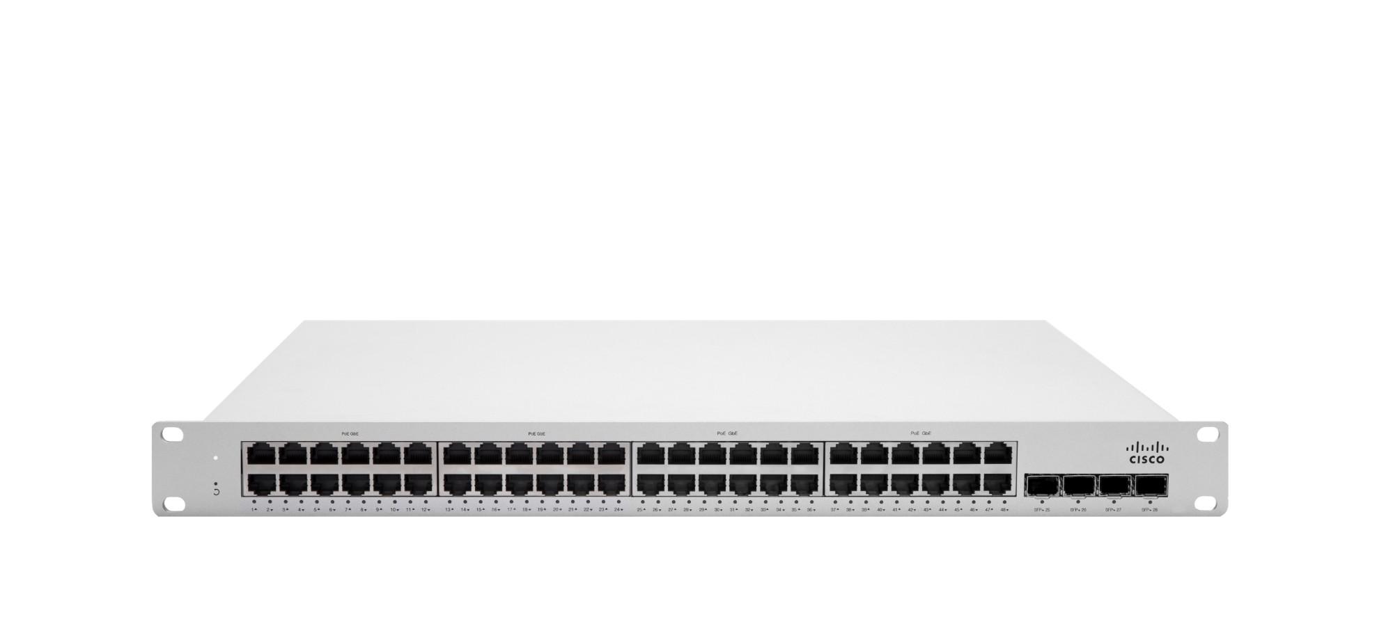 Cisco Meraki MS250-48FP Gestionado L3 Gigabit Ethernet (10/100/1000) Gris 1U Energía sobre Ethernet (PoE)