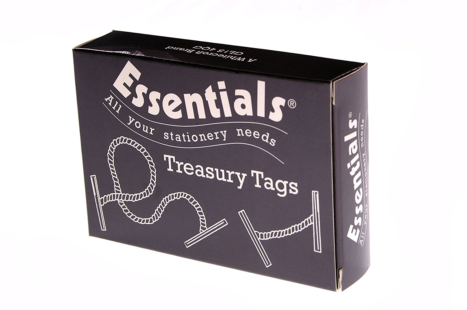 Whitecroft Essentials Value Treasury Tag Plastic 25mm Box 100