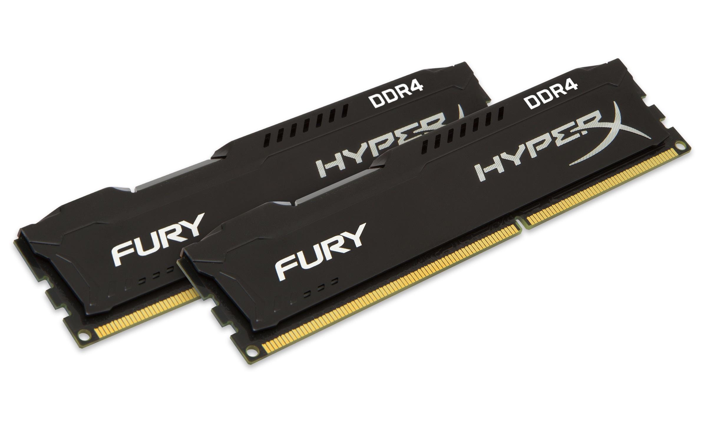 HyperX FURY Memory Black 16GB Kit (2x8GB) DDR4 2400MHz CL15 DIMM 16GB DDR4 2400MHz memory module