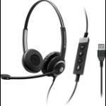 Sennheiser SC 260 USB CTRL II binaural wired headset with MS controller