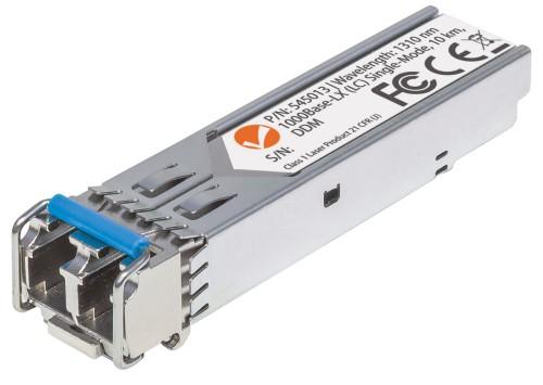 Intellinet Gigabit Fibre SFP Optical Transceiver Module, 1000Base-Lx (LC) Single-Mode Port, 10km, Fiber, Equivalent to Cisco GLC-LH-SM, Three Year Warranty