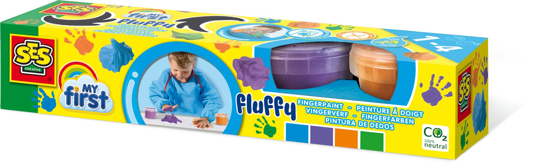 SES Creative My First - Fluffy fingerpaint 4x120ml