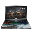 "MSI Gaming GP62M 7REX(World Of Tanks Edition)-1294UK 2.8GHz i7-7700HQ 15.6"" 1920 x 1080pixels Black Notebook"
