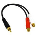 C2G Value Series RCA Plug to RCA Jack x2 Y-Cable