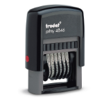 Trodat Printy 4846 Self-inking Number Stamp (6 Bands of 0-9)