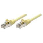 Intellinet Network Patch Cable, Cat5e, 10m, Yellow, CCA, F/UTP, PVC, RJ45, Gold Plated Contacts, Snagless, Booted, Polybag