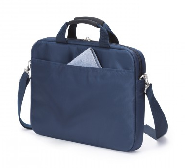 Dicota 15.6-Inch Top Loading Lockable Cushioned Notebook Briefcase - Blue/Orange - (D30999)