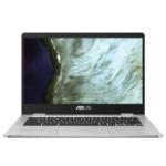"ASUS Chromebook C423NA-EC0191 notebook LPDDR4-SDRAM 35.6 cm (14"") 1920 x 1080 pixels Intel® Celeron® N 8 GB 32 GB eMMC Wi-Fi 5 (802.11ac) Chrome OS Silver"